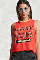 Forever 21 FOREVER 21+ Graphic Raw-Cut Tank Top
