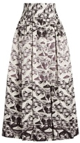 Sophie Theallet Yue pleated silk-mikado skirt