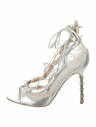 Marchesa Aviana Open-Toe Sandals w/ Tags Silver