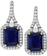 Macy's Lab-Created Blue Sapphire (4 ct. t.w.) and White Sapphire (1/2 ct. t.w.) Drop Earrings in Sterling Silver