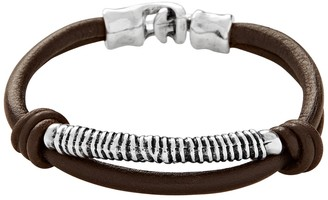 Uno de 50 Looping Leather Bracelet