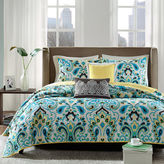JCPenney Madison Park Chantel 5-pc. Quilted Paisley Coverlet Set