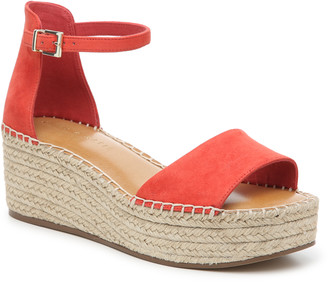 Kelly & Katie Women's Fredrick Espadrille Wedges Sandals Coral Size 5 Fabric or faux leather upper From Sole Society