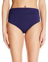 Anne Cole Women's Convertible High-Waist To Fold Over Shirred Bikini Bottom