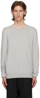 Maison Margiela Grey Wool Elbow Patch Sweater