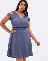 Double Layer Denim Jersey Dress
