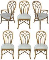 One Kings Lane Vintage McGuire Rattan Dining Chairs