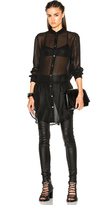 Ann Demeulemeester Long Belted Tunic