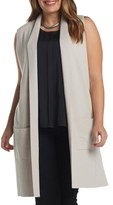 Tart Plus Size Women's Melva Cotton & Cashmere Open Front Sweater Vest