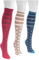 Muk Luks Women's Jacquard Knee High Socks