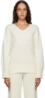 Arch The Off-White Cashmere and Wool V-Neck Sweater