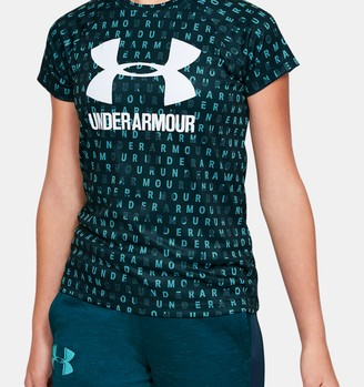 Under Armour Girls' UA Big Logo Printed T-Shirt