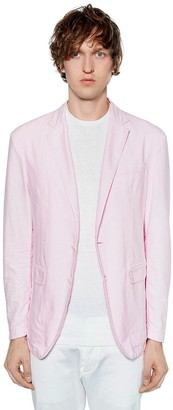 DSQUARED2 Boyfriend Fit Cotton Oxford Jacket