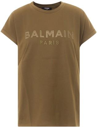 Balmain Satin Logo T-Shirt