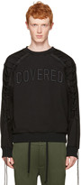 Juun.J Black Lace-up covered Pullover