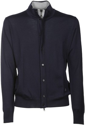 Fay Zip And Button Cardigan