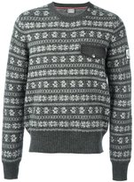 Moncler Gamme Bleu 'Fair Isle' jumper - men - Silk/Cotton/Polyamide/Wool - L
