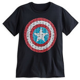 Disney Captain America Text Shield Tee for Men
