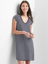 Gap Stripe V-neck t-shirt dress