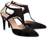 Perla Formentini Sofia Leather Ankle Strap Pump