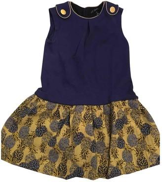 Lili Gaufrette Blue Cotton Dresses