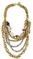 Ashley Pittman Horn & Pyrite Johari Multistrand Necklace