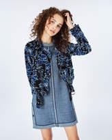 Nicole Miller Denim Lace Moto Jacket