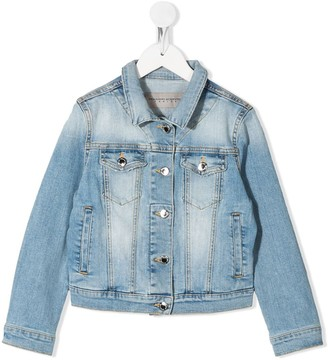 Ermanno Scervino Crystal-Embellished Denim Jacket