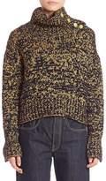 Rag & Bone Women's Wool Blend Turtleneck Sweater - Navy Yellow, Size xs [x-small]