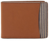 Fossil Knox Leather Bifold ID Flap Wallet