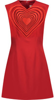 Christopher Kane Embroidered Cutout Crepe Mini Dress