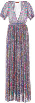 Missoni Printed Fil Coupe Gauze Maxi Dress
