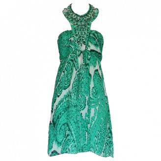 Milly \N Green Silk Dresses