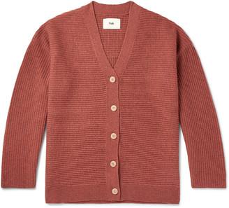 Folk Signal Ribbed Wool Cardigan - Men - Orange
