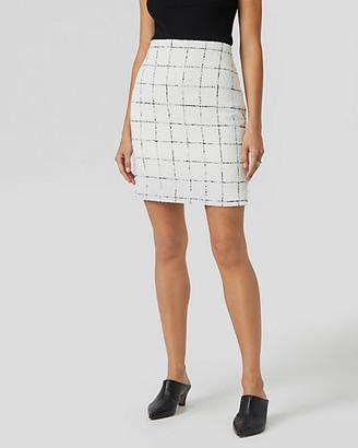 Le Château Windowpane Check Boucle Mini Skirt