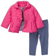 Little Me Magenta 3-Piece Jacket Set (Baby Girls)