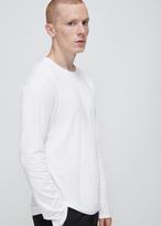 Issey Miyake white long sleeve bio t-shirt