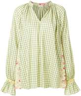 Natasha Zinko flared checked shirt