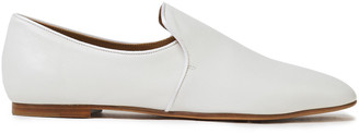The Row Alys Satin-trimmed Leather Loafers