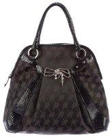 Blumarine Leather-Trimmed Handle Bag