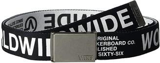 Vans Long Depster Web Belt (Black/White) Men's Belts