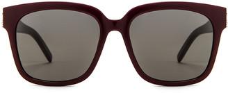 Saint Laurent Pilot Sunglasses in Rouge Legion & Grey   FWRD