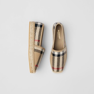 Burberry Latticed Leather Espadrilles