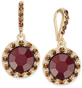 INC International Concepts Gold-Tone Red Stone Drop Earrings, Only at Macy's