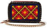 Christian Louboutin Piloutin Embellished Leather Clutch - Black