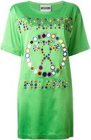 Moschino mirror embroidered logo T-shirt dress