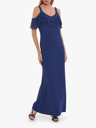 Gina Bacconi Blaise Frill Cold Shoulder Maxi Dress