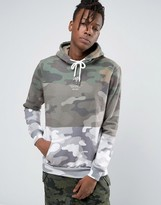 Hype Hoodie With Camo Panels