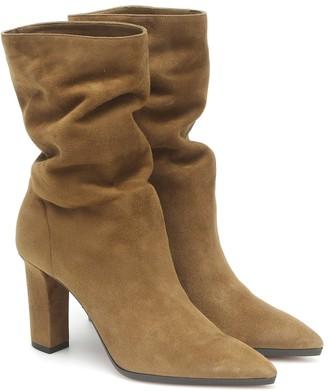 Aquazzura Skyler 90 suede ankle boots