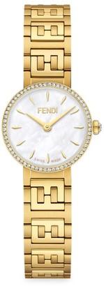 Fendi Timepieces Yellow Goldtone Stainless Steel Bracelet Watch
